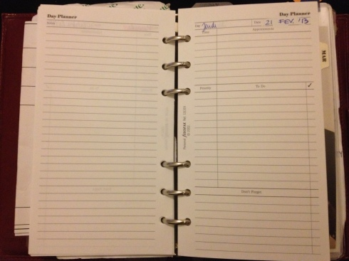 Filofax personal set up and hack - planner, agenda