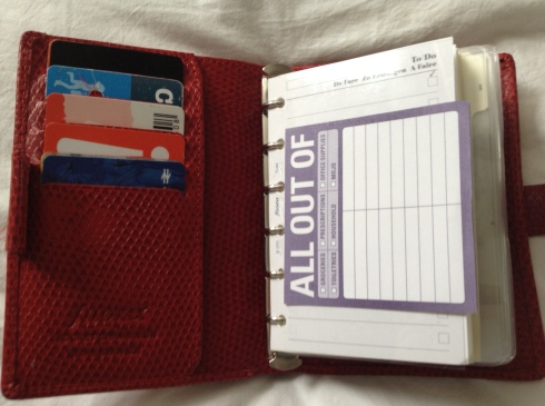 filofax planner wallet hack & set up