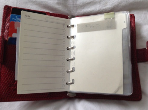 filofax planner wallet set up & hack